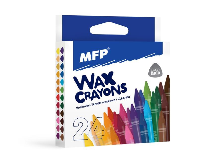 Voskovky MFP 24 barev - trojhranné