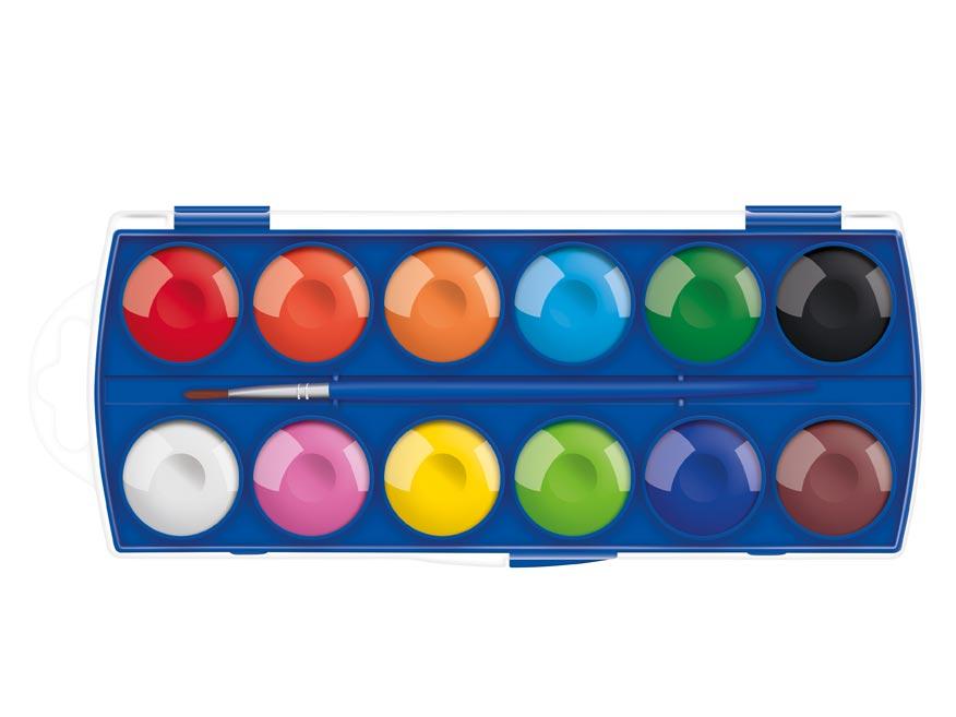 MFP 6300358 Barvy vodové 12 ks barev 30mm krabička