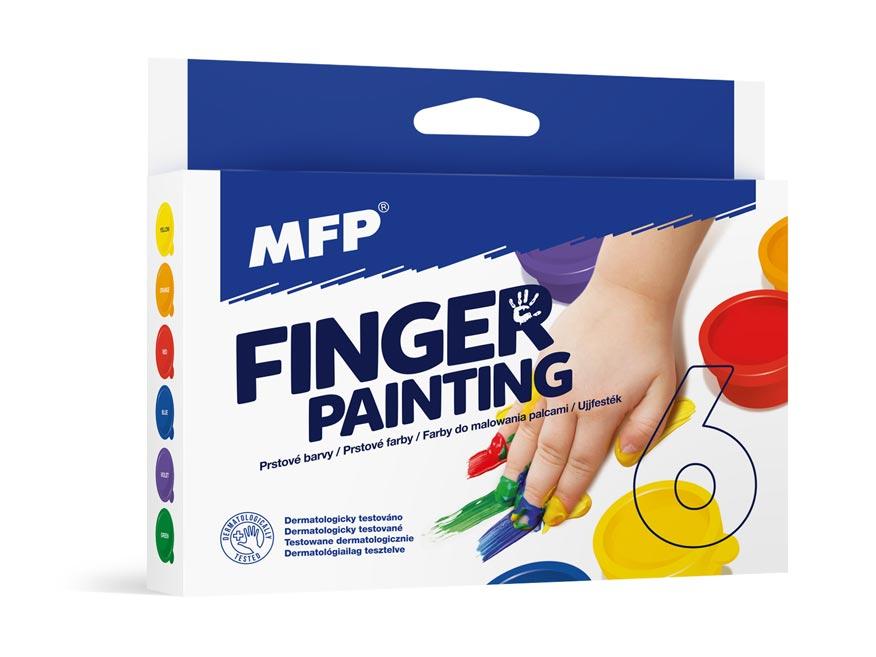 Barvy prstové 6 barev 30ml