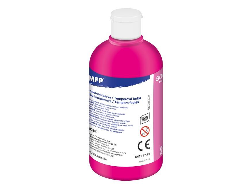 Temperové barvy 500ml růžová