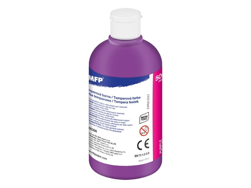 Temperové barvy 500ml fialová