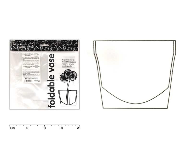 Květináč 9410 bez dekoru plastový skládací 22x18cm
