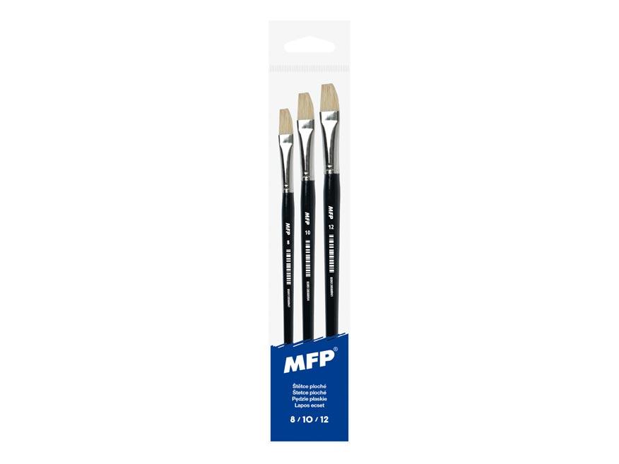 MFP 6340111 štětec plochý set 3 ks 8,10,12/577C
