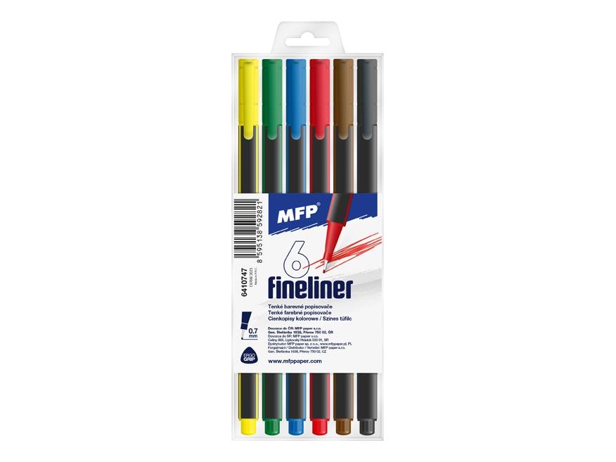MFP 6410747 popisovač FL 6 ks barev 0,7mm trojhranné
