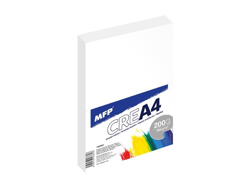MFP kreslící karton A4 200 listů 190g