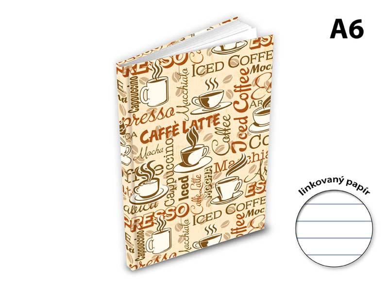 Image of Záznamová kniha A6 MFP 100l/linka ZL6104-055