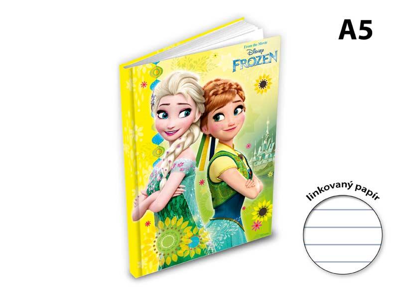 Záznamová kniha A5 MFP 100l/linka ZL5104-Y04 Disney (Frozen)
