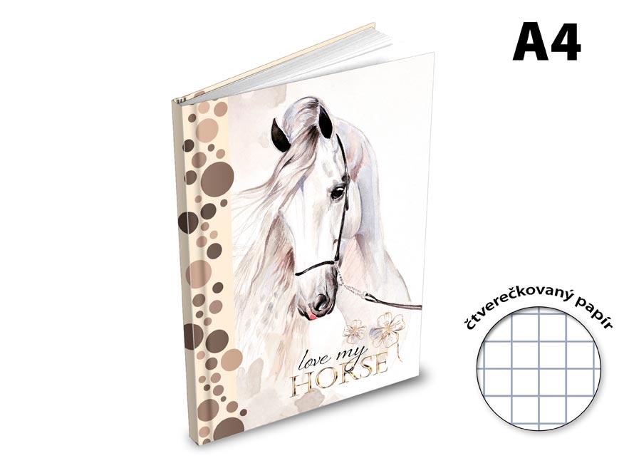 Záznamová kniha A4 MFP 100l/čtvereček ZL4105