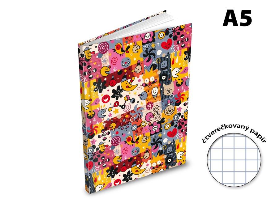Záznamová kniha A5 MFP 100l/čtvereček ZL5105