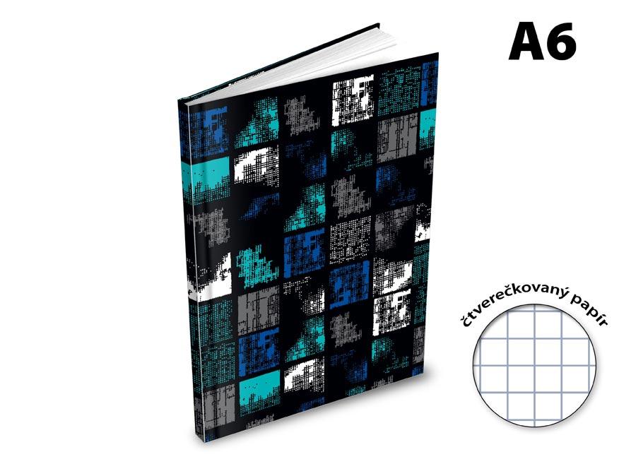 Záznamová kniha A6 MFP 100l/čtvereček ZL6105