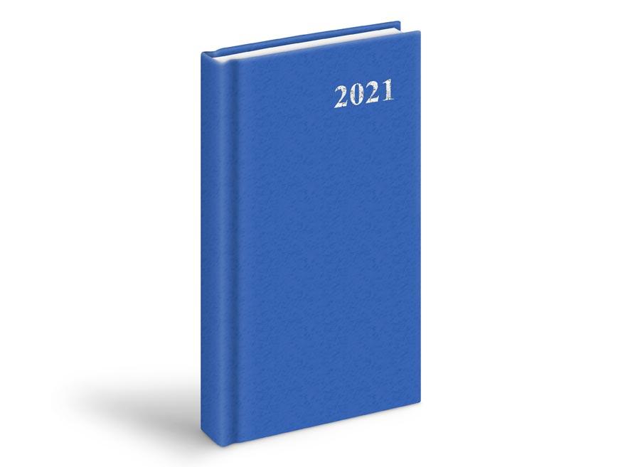 MFP 7781007 diář 2021 D802 PVC denní Blue 90x170 mm