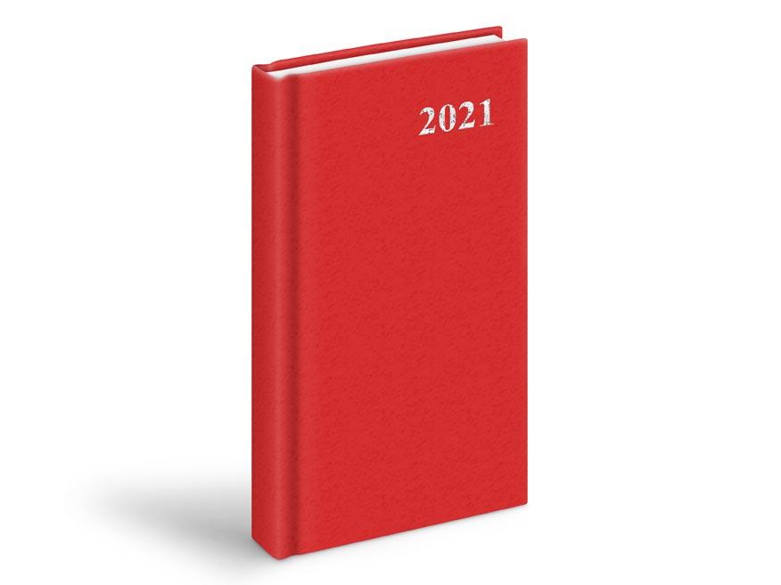 MFP 7781008 diář 2021 D802 PVC denní Red 90x170 mm