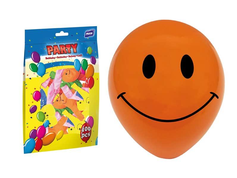 Balónek nafukovací smile 23cm mix