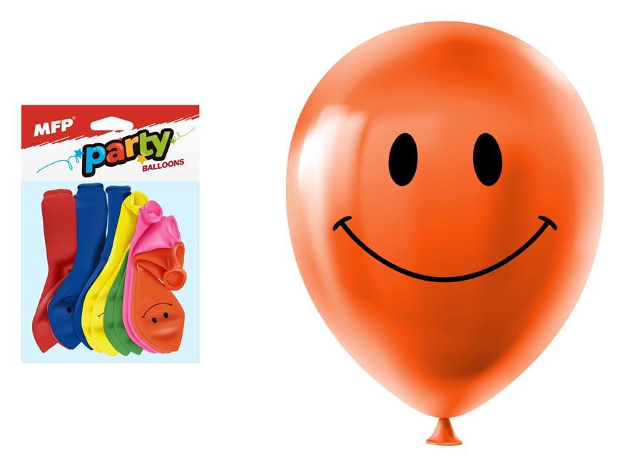 Balónek nafukovací 12ks sáček smile 23 cm mix