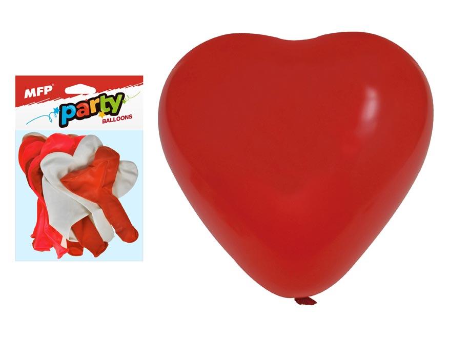 Balónek nafukovací 12ks sáček srdce  30cm mix