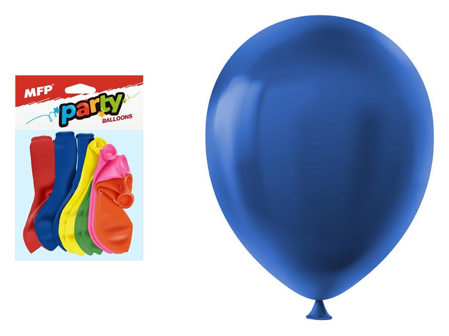 Balónek nafukovací 12ks sáček standard 30cm mix
