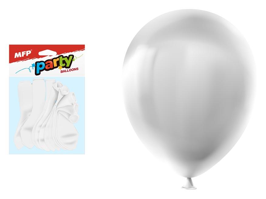 MFP 8000122 Balónek nafukovací 12ks sáček standard 30cm bílý