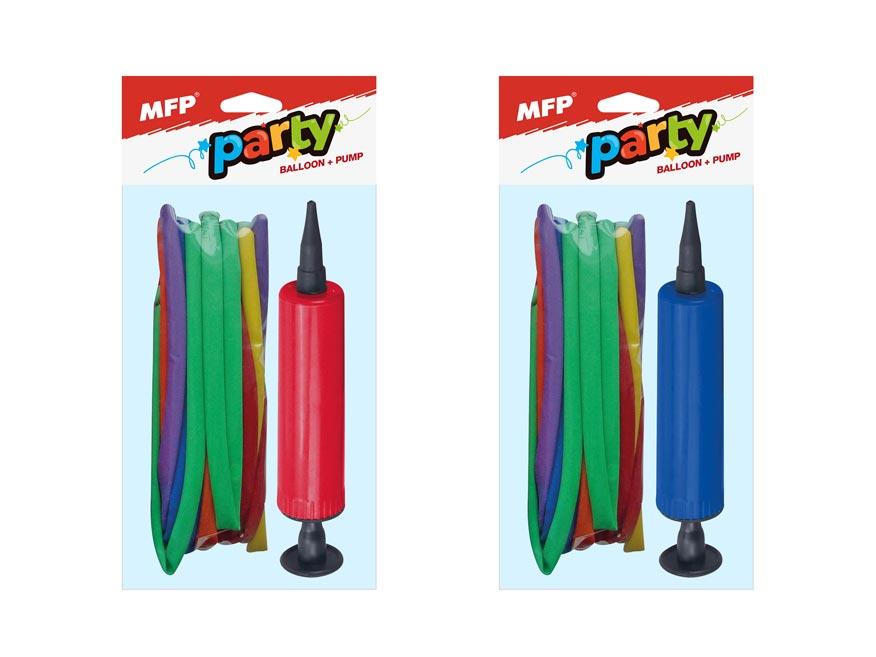 MFP 8000125 Set balónek noodle 20ks + pumpička