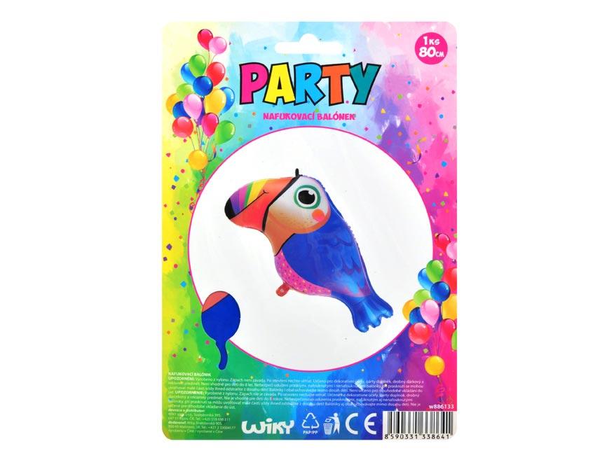 Balónek 886133 nafukovací papoušek 80cm