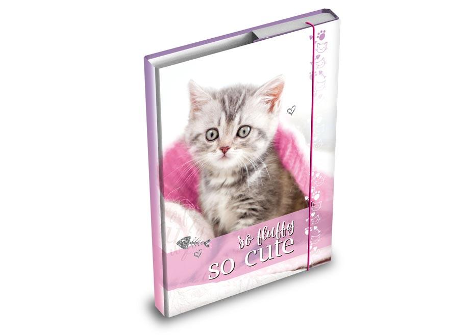 Desky na sešity MFP box A4 Kočka