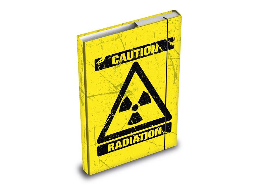 Desky na sešity MFP box A4 Caution