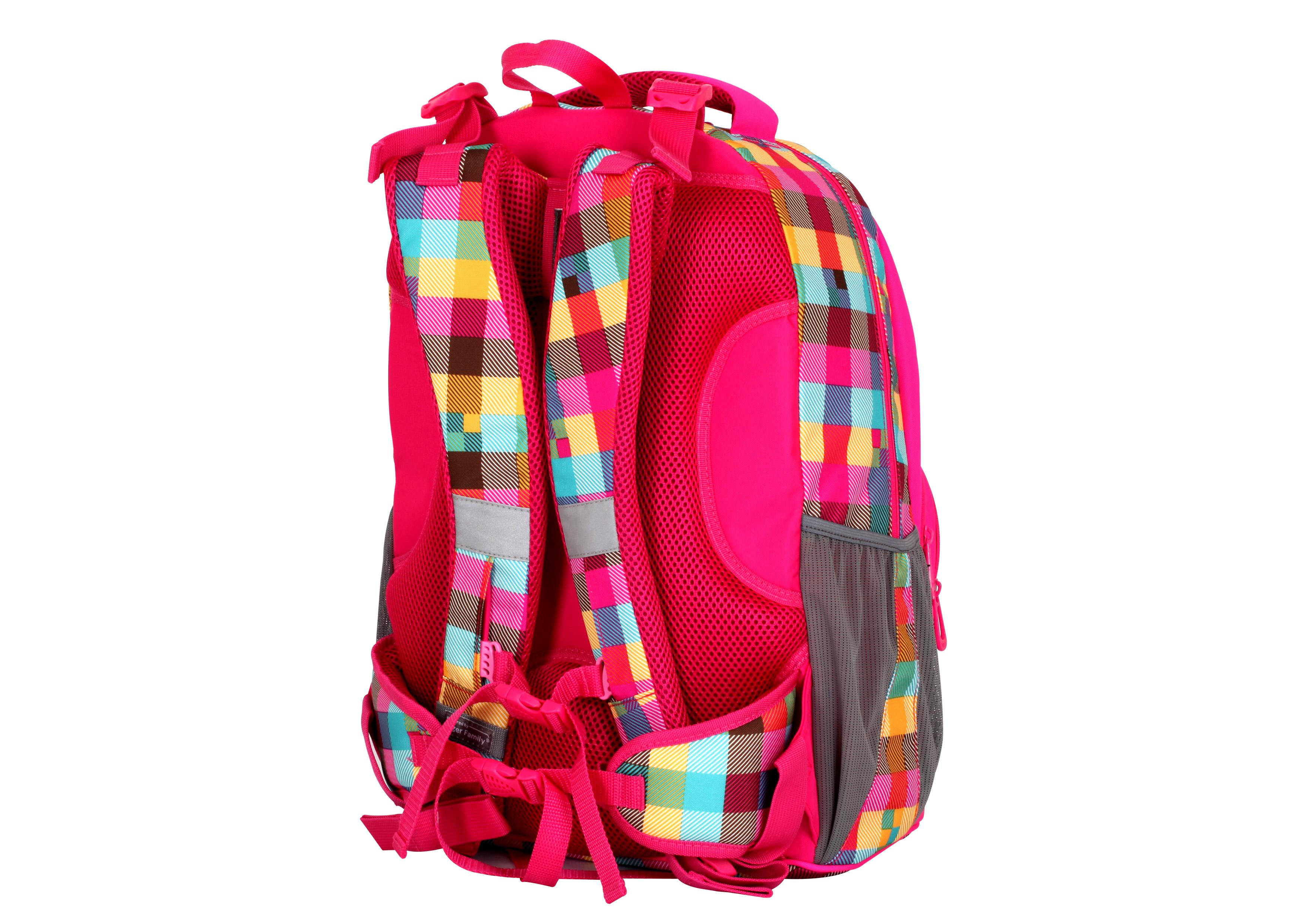Batoh školní Neon Pink  f51b2d0def