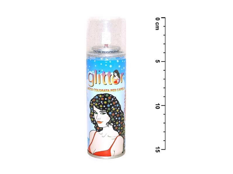 Spray na vlasy 143 třpytky stříbrný