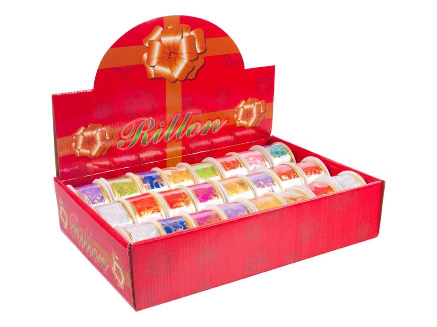 MFP 8881870 stuha vánoční 2,7m x 3,8cm box mix