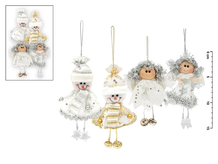 MFP vánoční ozdoby 4ks 13-15cm mix figurek