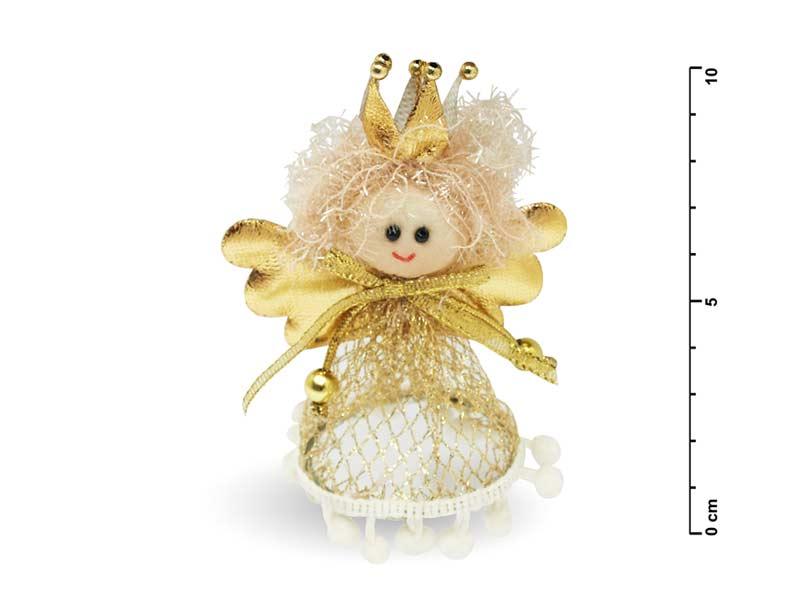 Anděl 13cm zlatý 10-133A