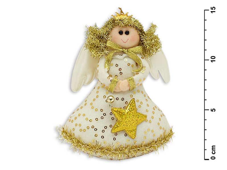 Anděl zlatý 16cm YX-09576G3