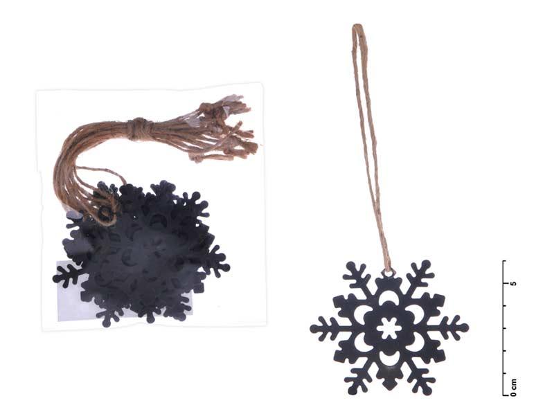 MFP 8885450 vločka závěs kov černý mat 6cm