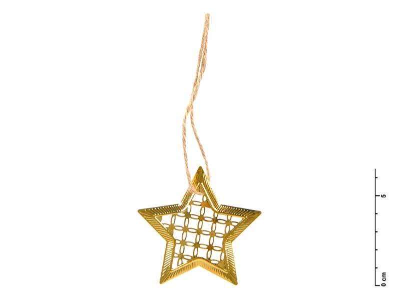 MFP hvězda kov zlatá 7 cm - závěs