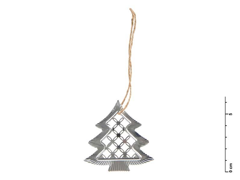 Stromek kov stříbrný 6,5 cm - závěs