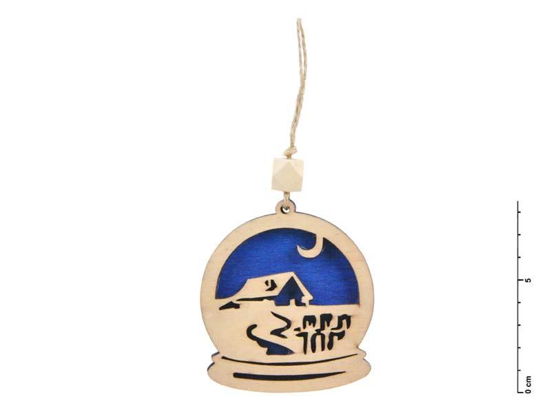 Levně MFP 8885556 Závěs dřevo krajina 7,5cm - modrý