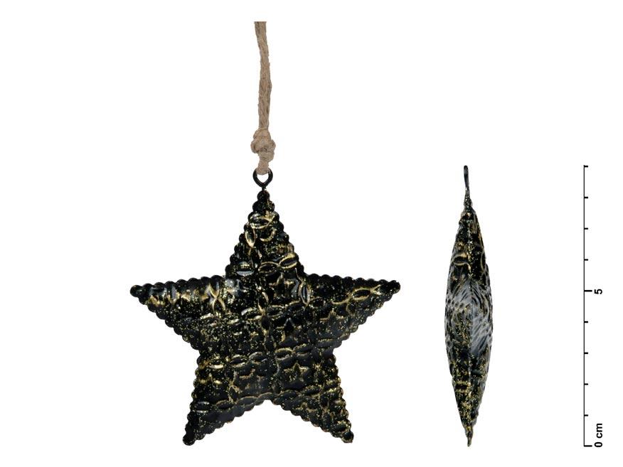 MFP 8885737 hvězda závěs plech černý 8,5cm