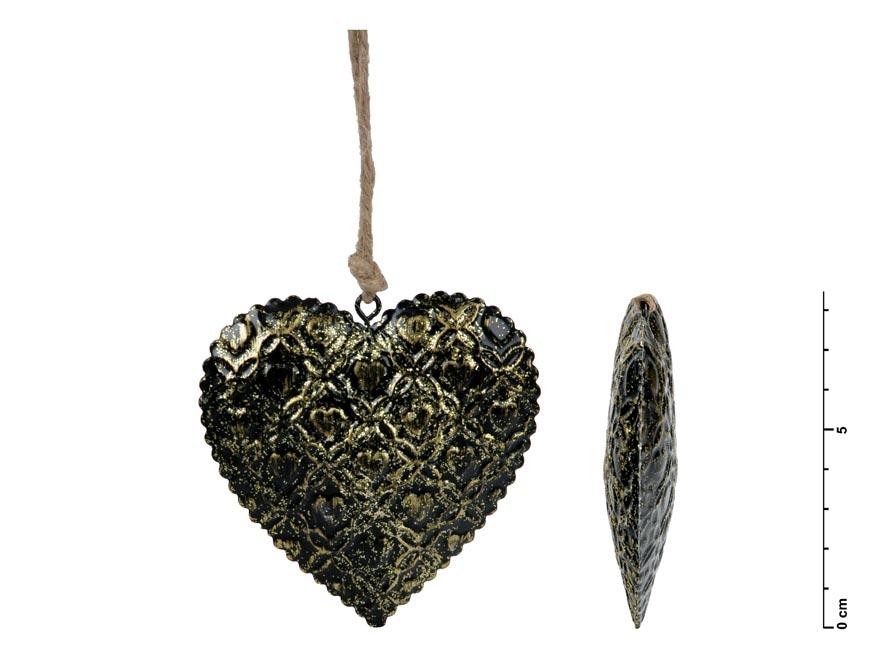MFP 8885739 srdce závěs plech černý 8,5cm