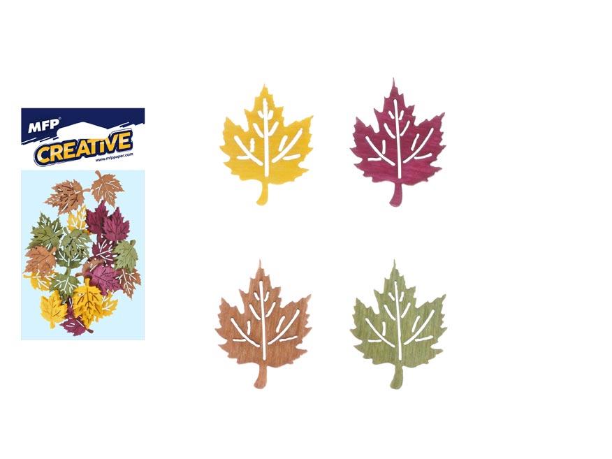 Dekorace list javor barevný 12ks 4cm mix