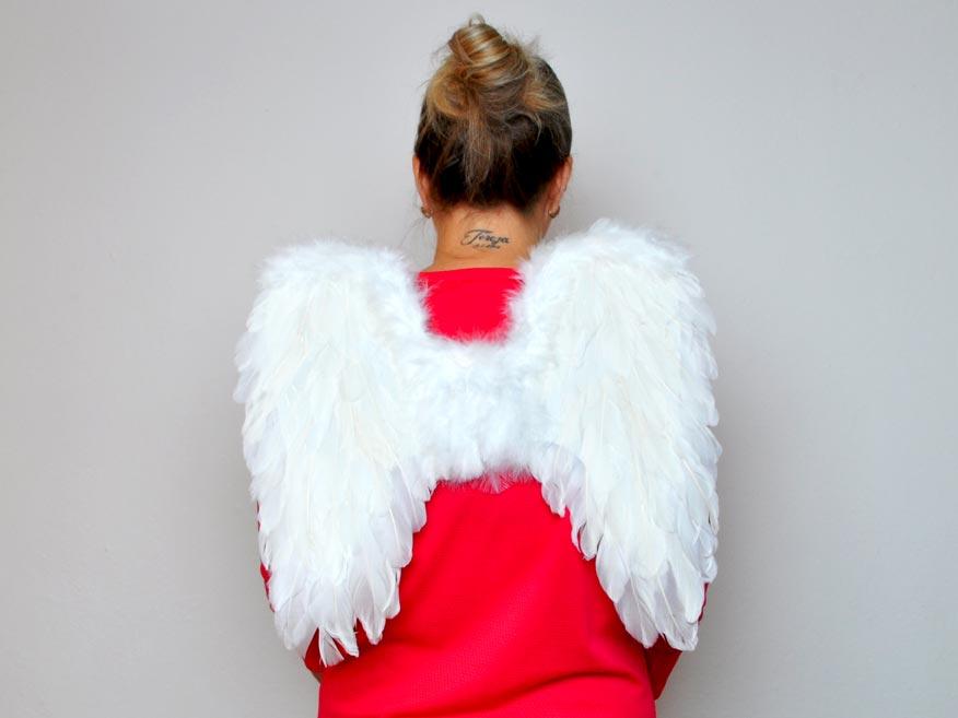 Andělská křídla z peří 44x42cm