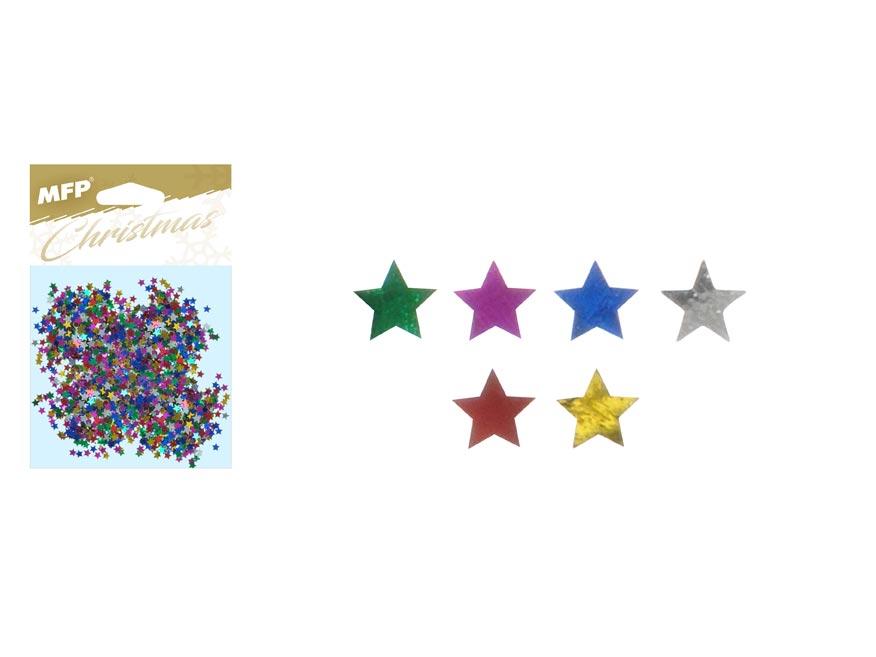 Konfety hvězdičky 20g mix barev