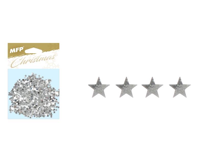 Konfety hvězdičky 20g stříbrné