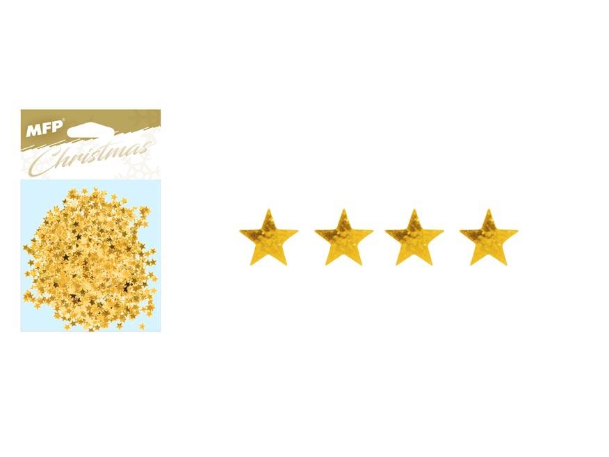 Konfety hvězdičky 20g zlaté