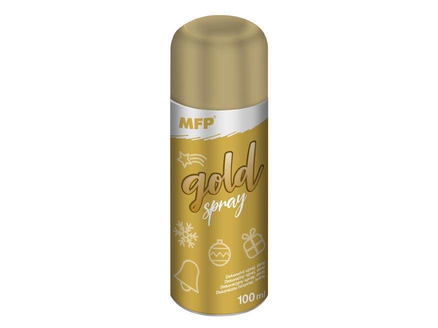 Spray zlatý dekorační 100ml