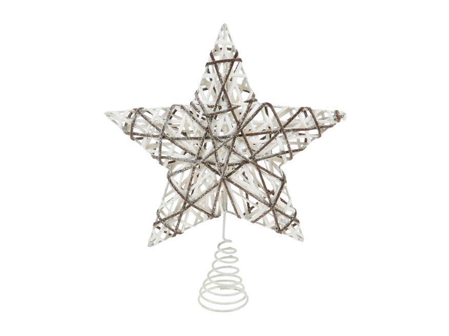 MFP 8885959 hvězda špice na stromek vánoční 25x30cm FJ291428B