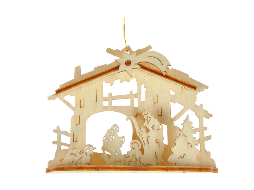 MFP 8885974 Závěs vánoční dřevo 7x2,8x5,5cm BD-29449S