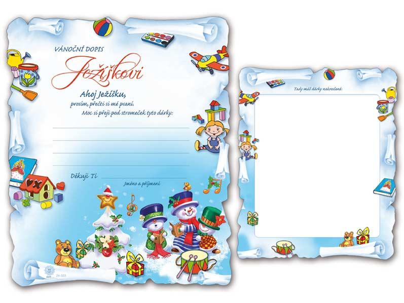 Přání Vánoční V24-303 H  Dopis Ježíškovi