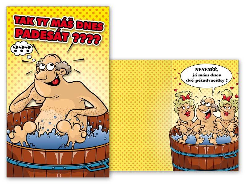 přání k 50 narozeninám humorná Přání humorné M44 005 H | MFP paper s.r.o. přání k 50 narozeninám humorná