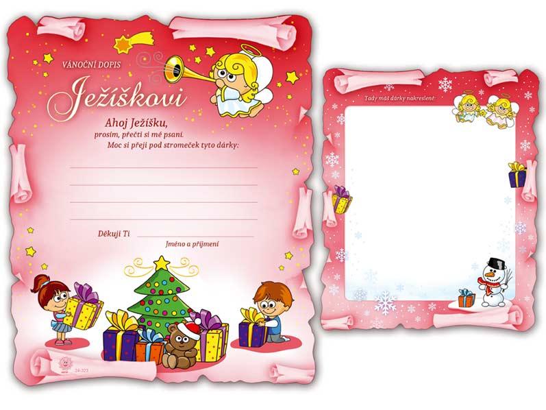 Přání Vánoční V24-323 H  Dopis Ježíškovi