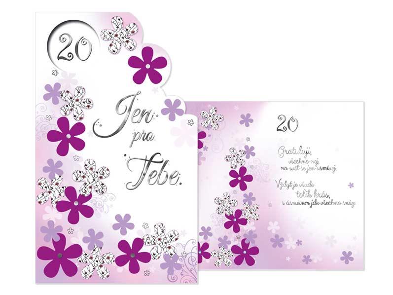blahopřání k 20 narozeninám Přání k narozeninám 20 M11 383 H | MFP paper s.r.o. blahopřání k 20 narozeninám