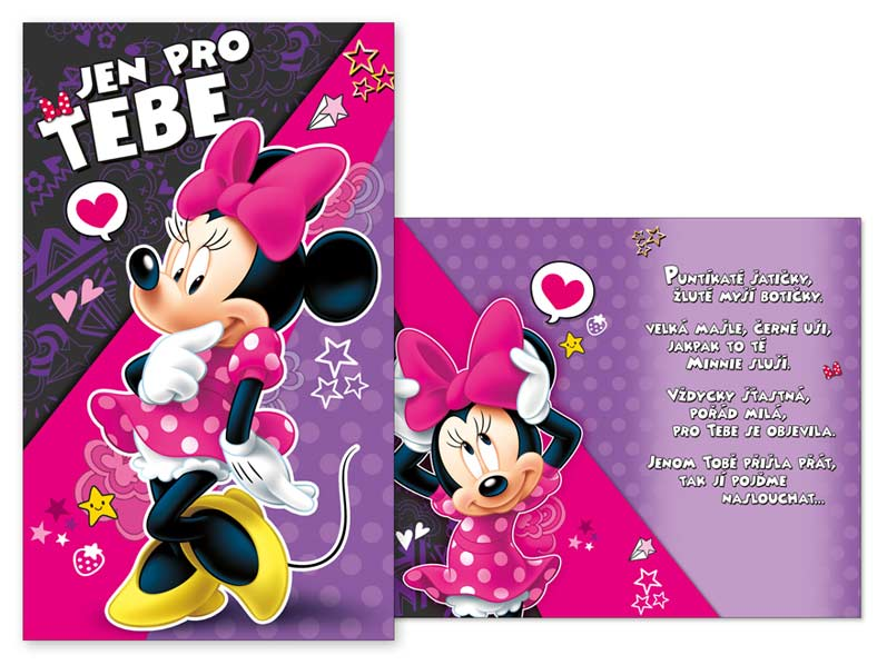 dětská přání k narozeninám texty Přání dětské M33 071 H Disney (Minnie) | MFP paper s.r.o. dětská přání k narozeninám texty